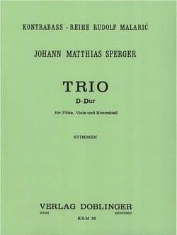 Johann Matthias Sperger - Trio in D-Dur –Flöte Viola Kontrabass - Stimmen - Partition - di-arezzo.fr