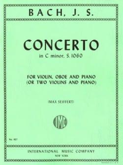Johann Sebastian Bach - Concerto in C minor BWV 1060 –Violin oboe piano - Partition - di-arezzo.fr