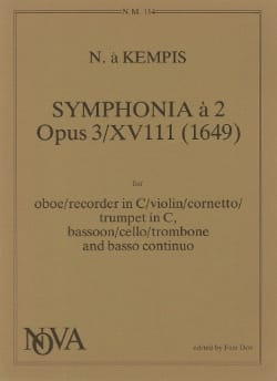 Nicolas à Kempis - Symphonia a 2 op. 3/18 - Oboe Bassoon Bc - Partition - di-arezzo.fr