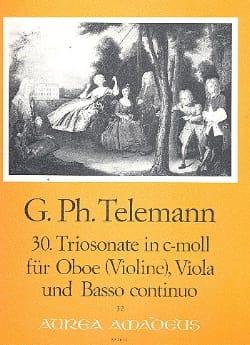 Triosonate Nr. 30 in c-moll -Oboe Viola Bc - laflutedepan.com