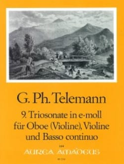 Georg Philipp Telemann - Triosonate Nr. 9 in e-moll -Oboe Violine Bc - Partition - di-arezzo.fr