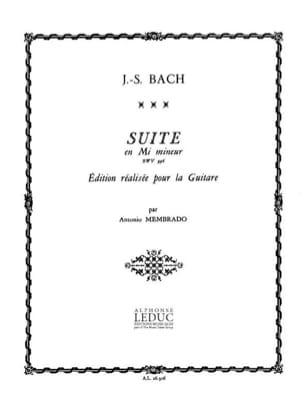 BACH - Suite en mi mineur BWV 996 - Partition - di-arezzo.fr