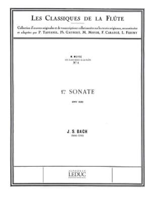 Sonate n° 1 si mineur BWV 1030 - BACH - Partition - laflutedepan.com