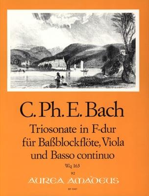 Triosonate F-Dur Wq 163 - Bassblockflöte Viola Bc - laflutedepan.com