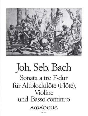 Johann Sebastian Bach - Sonata a tre in F-Dur –Alblockflöte Violine Bc - Partition - di-arezzo.fr