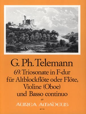 Georg Philipp Telemann - Triosonate Nr. 69 in F-Dur – Altblockflöte o. Flöte, Violine u. Bc - Partition - di-arezzo.fr