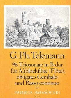 TELEMANN - Triosonate Nr. 96 in B-Dur - Alblockflöte Flöte obl. Cembalo u. Bc - Sheet Music - di-arezzo.co.uk