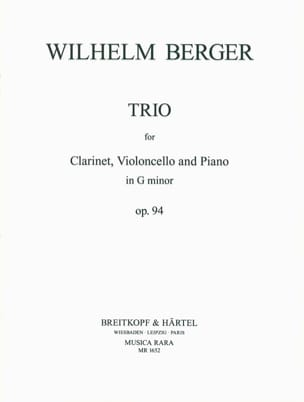 Trio in G minor op. 94 – Clarinet cello piano - laflutedepan.com