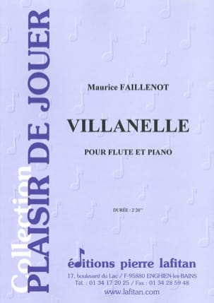 Maurice Faillenot - Villanelle - Partitura - di-arezzo.it