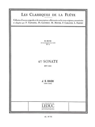 BACH - Sonata No. 4 C major BWV 1033 - Piano Flute - Sheet Music - di-arezzo.co.uk