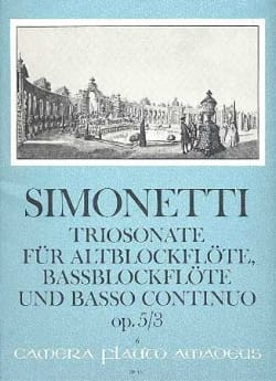 Triosonate op. 5 n° 3 -Alt— u. Bassblockflöten u. Bc laflutedepan