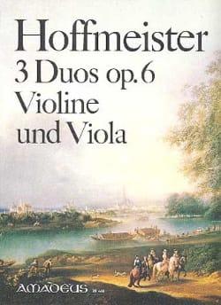 3 Duos op. 6 für Violine und Viola HOFFMEISTER Partition laflutedepan