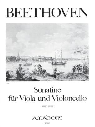 Ludwig Van Beethoven - Sonatine für Viola und Violoncelle - Partition - di-arezzo.fr