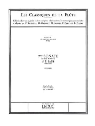 Sonate n° 7 en sol mineur BWV 1020 - Flûte piano BACH laflutedepan