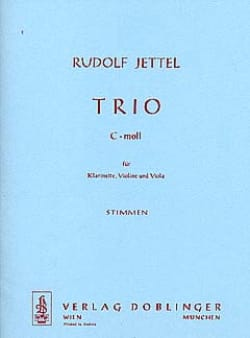 Rudolf Jettel - Trio c-moll –Stimmen - Partition - di-arezzo.fr