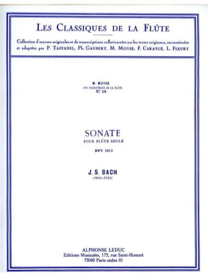 Sonate (Partita) en la mineur BWV 1013 - Flûte seule - laflutedepan.com