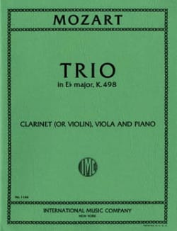 MOZART - Trio in Eb major KV 498 - Clarinet violin viola piano - Partition - di-arezzo.fr