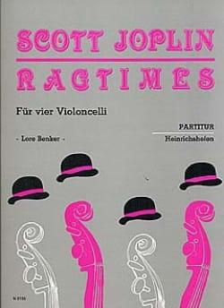 Scott Joplin - Ragtimes für 4 Violoncelli - Partitur - Partition - di-arezzo.fr