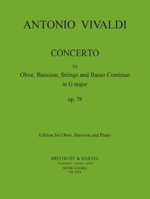 Concerto in G Major RV 545 - Oboe bassoon piano VIVALDI laflutedepan