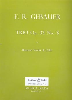 Trio op. 33 n° 3 - Bassoon Violin Cello - Score + Parts - laflutedepan.com