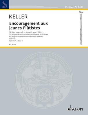 Charles Keller - Incoraggiamento per giovani flautisti Volume 1 - 2 flauti - Partitura - di-arezzo.it