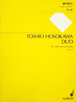 Toshio Hosokawa - Duo - Sheet Music - di-arezzo.co.uk