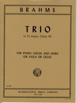 Trio in Eb major op. 40 - Horn violin piano BRAHMS laflutedepan