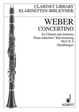 Carl Maria von Weber - Concertino opus 26 WeV n. 9 Klarinette Klavier - Partitura - di-arezzo.es