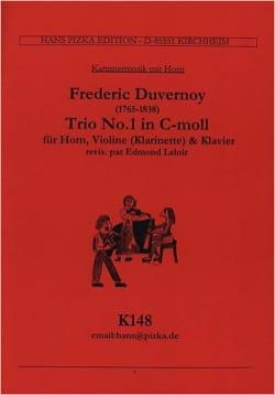 Frédéric Duvernoy - Trio Nr. 1 in c-moll –Horn Violine (Klar.) Klavier - Partition - di-arezzo.fr
