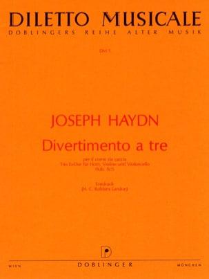 Divertimento a tre Es-Dur-Horn Violine Violoncello - Partitur + Stimmen laflutedepan