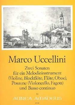Marco Uccellini - 2 Sonaten f. ein Melodieinstrument, Posaune, Bc - Partition - di-arezzo.fr
