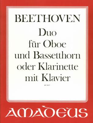 BEETHOVEN - Duo für Oboe, Bassethorn o. Klarinette u. Klavier - Partition - di-arezzo.fr