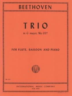 BEETHOVEN - Trio G Major WoO 37 - Flute bassoon piano - Sheet Music - di-arezzo.com