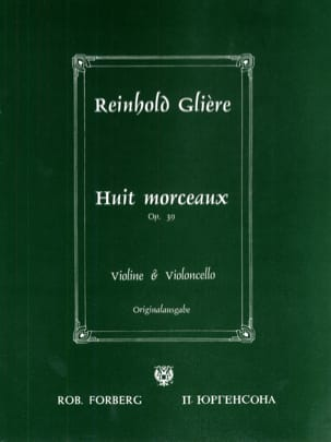 Reinhold Glière - 8 Pieces op. 39 - Sheet Music - di-arezzo.co.uk