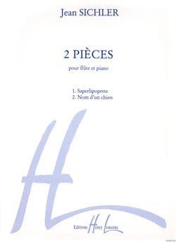 2 Pièces - Flûte piano - Jean Sichler - Partition - laflutedepan.com