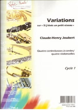 Claude-Henry Joubert - Variations on If I was a Little Bird - Sheet Music - di-arezzo.com