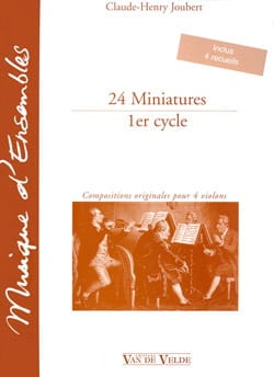 24 Miniatures - 1er cycle Claude-Henry Joubert Partition laflutedepan