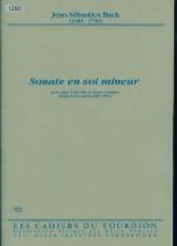 BACH - Sonate en sol mineur - Flûte à bec - Partition - di-arezzo.fr