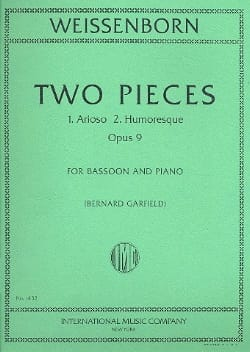 2 Pieces - Basson et Piano Julius Weissenborn Partition laflutedepan