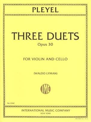 3 Duets op. 30 - Violin cello - Ignaz Pleyel - laflutedepan.com