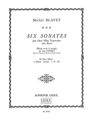 Michel Blavet - 6 Sonates - Volume 1 - 2 Flûtes - Partition - di-arezzo.fr
