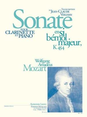 Sonate en sib majeur KV 454 - Clarinette MOZART Partition laflutedepan