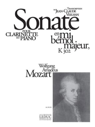 Wolfgang Amadeus Mozart - Sonate en mib majeur KV 302 – Clarinette - Partition - di-arezzo.fr