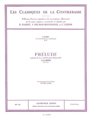 Bach Johann Sebastian / Nanny Edouard - Prélude extr. de la Suite n° 2 - Partition - di-arezzo.fr