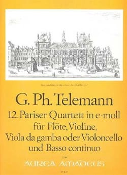 TELEMANN - 12. Bet Quartett in e-moll - Sheet Music - di-arezzo.co.uk
