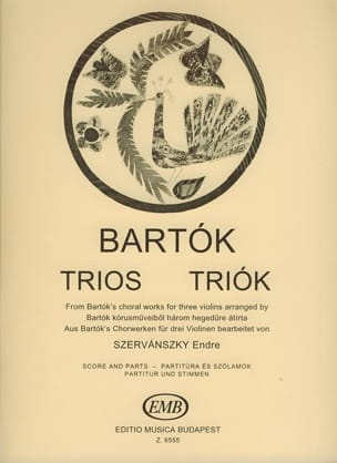 BARTOK - Trios from Choral Works - Sheet Music - di-arezzo.co.uk
