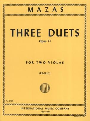3 Duets op. 71 - 2 Violas MAZAS Partition Alto - laflutedepan
