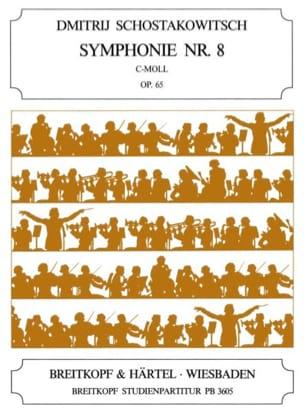 Dmitri Chostakovitch - Symphonie N°8 C Moll Op.65 - Partition - di-arezzo.fr
