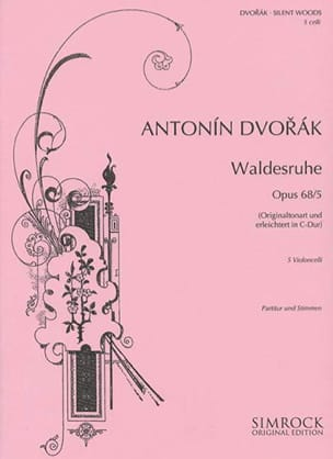 Waldesruhe op. 68 n° 5 - DVORAK - Partition - laflutedepan.com