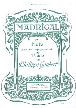 Philippe Gaubert - Madrigal - Sheet Music - di-arezzo.com